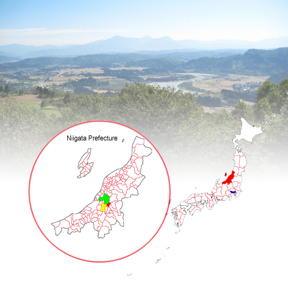Map of Japan and Niigata