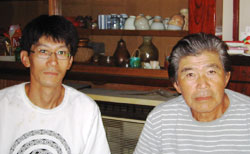 Mr. Tokuzo Miya and son, Kentaro
